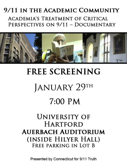 "Free Film Screening of ""9/11 in the Academic Community"""