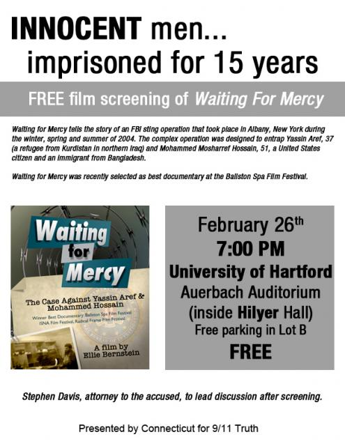 "Free Film Screening of ""Waiting for Mercy"""